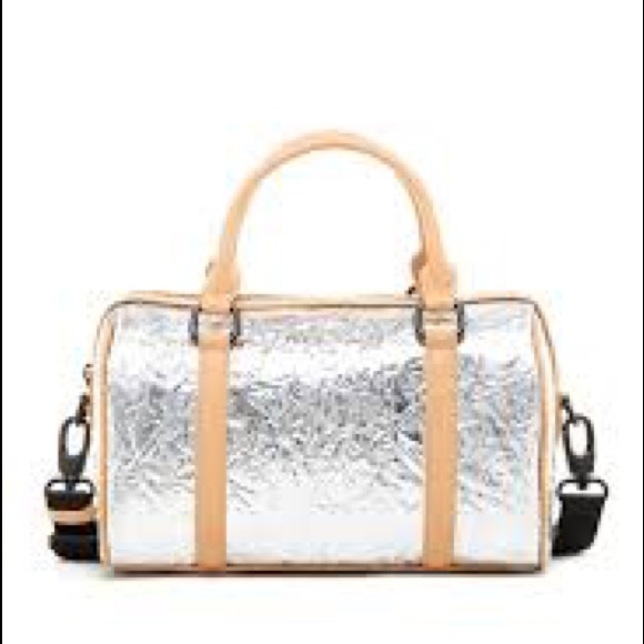 L.A.M.B. Handbags - LAMB FINN METALLIC SMALL DUFFLE SATCHEL
